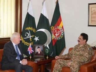 COAS, UK National Security Adviser discuss matters of  mutual interest