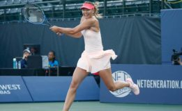 Sharapova battles into second round at Stanford
