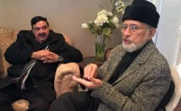 Sheikh Rasheed meets Tahirul Qadri, announces full support