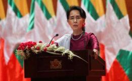 Petrol bomb thrown at Suu Kyi's  lakeside villa: Myanmar govt