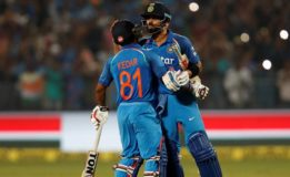 India win by 6 wickets  with 27 balls remaining