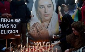 PPP workers are litting candles on the 8th death anniversary of Mohtarma Benazir Bhutto  in Lahore on Sunday.
