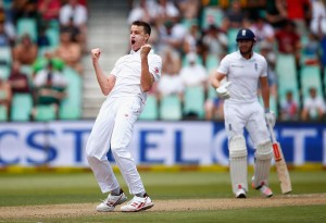Morne Morkel was on a hat-trick after removing Chris Woakes first ball.